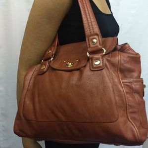 MARC By MARC JACOBS Flap Top Brown Leather Bag  BP
